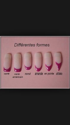 Type formes d'ongles