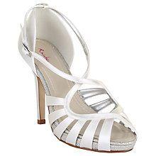 Buy Rainbow Club Cassie Cross Strap Sandals, Ivory Satin Online at johnlewis.com