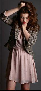 Geekly chic preppy blaser+ softly cute dress= <3