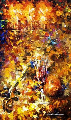 "Music Of The Past — ORIGINAL Oil Painting On Canvas by Leonid Afremov - 15""x25"" #Impressionism"