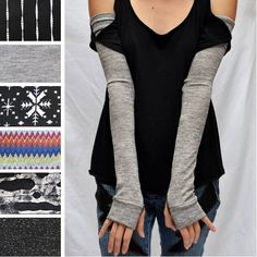 PICC Line Covers Fashionable Cover Ups Cancer Gifts Chemotherapy Dialysis Long Gray Arm Warmers Knit Gloves Raynauds Disease. $32.00, via Etsy.