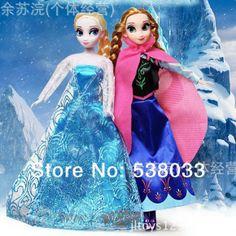 free shipping new 2014 2pcs Plastic cartoon frozen figure doll snow elsa frozen Princess&Anna frozen Romance Adventure $15.68