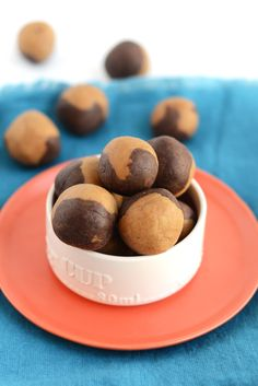 Brownie Cookie Dough Swirl Protein Balls - Fit Foodie Finds