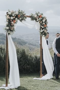 Relaxed and Intimate Tuscan Wedding - Storyboard Wedding Coral Roses, White Roses, Blush Peonies, Travel Around Europe, Tuscan Wedding, Grace Loves Lace, Ceremony Backdrop, Arbors, How Beautiful