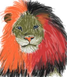 """Admire this Awesome #Colorized """"#Lion"""" #Sketch by Amber B. http://www.colorized.by/i/UTWU1Qih9gCiAAAq/"""