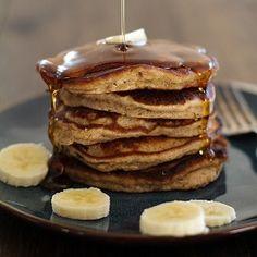 Banana Bread Almond Flour Pancakes HealthyAperture.com