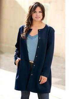 Kabát s patentovým zapínaním #ModinoSK #kabát #blue #marino