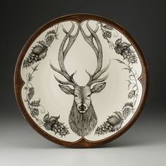 Laura Zindel Design - Large Round Platter: Red Stag, $650.00 (http://www.laurazindel.com/large-round-platter-red-stag/)
