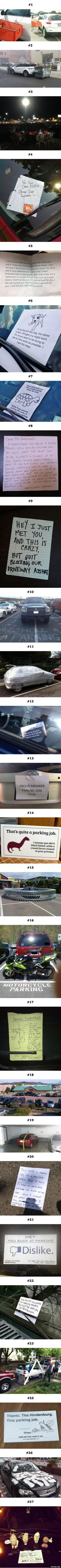 27 Asshat Parkers Get Exactly What They Deserved