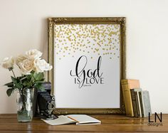 Instant 'God is love' 1 John 4:16 Scripture by mylovenotedesigns