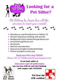 Flyer Design for local pet sitting company. #pet #services #design ...
