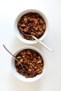 The Perfect Fall Breakfast - Sweet Potato Granola | minimalistbaker.com