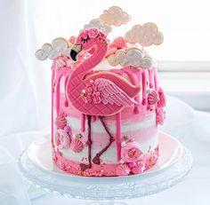 Pink Flamingo-Lemonade 1st bday smash cake-Add lemons instead of clouds