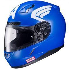 HJC CL-17 Marvel Captain America Mens Street Bike DOT Riding Motorcycle Helmets