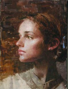 """Sarah's Profile"" - Morgan Weistling Portrait Sketches, Portrait Art, Animal Drawings, Cool Drawings, Morgan Weistling, Drawing Reference Poses, Portraits, Drawing People, Face Art"