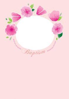 Floral Baby Free Printable Baptism Christening Invitation