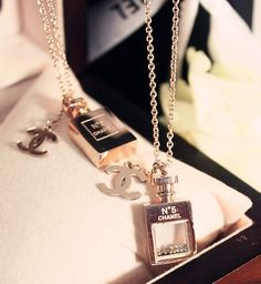Chanel Perfume Bottle Necklaces