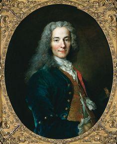 Voltaire par Nicolas de Largillière, 1718, usée national du château de Versailles.