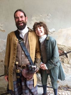 jemscorner: surana17: Look at these two gorgeous fellers. @LacroixDuncan & @romannberrux in Prague. #outlander #weefergus #bigmurtagh SOURCE Adorable!