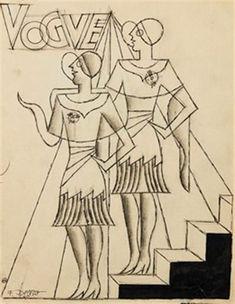FB / Vogue par Fortunato Depero More Words, Global Art, Cubism, Art Market, Literature, The Past, Auction, Vogue, Museum