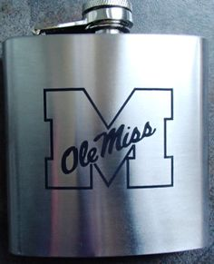 Ole Miss Rebels Flask with name/initials on by DeesEngraving, $17.00