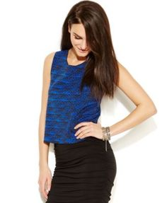 Vince Camuto Graphic-Print Crop Top