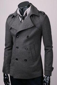 мужское пальто фото короткое