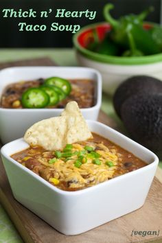 Vegan Taco Soup - Great recipe! The meat-eating hubby loved it, will definitely make again! Topped it with fresh avocado