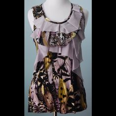 ONE SEPTEMBER ANTHROPOLOGIE Pale Mauve Top S ONE SEPTEMBER ANTHROPOLOGIE Pale Purple Top Size S Anthropologie Tops Blouses