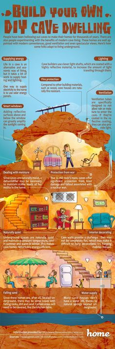 NIFTY! How to have your own cave house. Thank you, DIY.