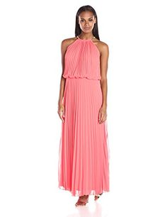 online shopping for MSK Women's Halter Neck Pleated Maxi from top store. See new offer for MSK Women's Halter Neck Pleated Maxi Halter Maxi Dresses, Pleated Maxi, Bridesmaid Dresses, Wedding Dresses, Formal Dresses For Women, Nice Dresses, Summer Dresses, Halter Neck, Dress Me Up