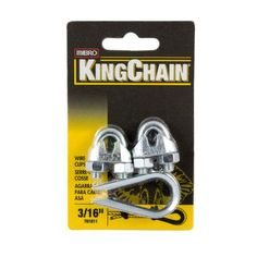 KingChain - 3/16 In. Wire Rope Clip (2) Thimble (1) - 701811HD - Home Depot Canada