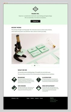 Web design / Frame Inc — Designspiration