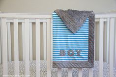 Self-binding minky baby blanket…(with applique)