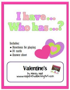 FREE I Have…Who Has.. Valentine's