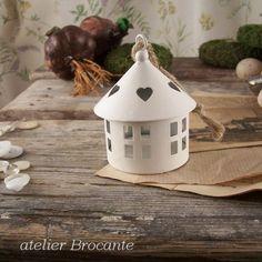 Domek+biały+okrągły+w+atelier+Brocante+na+DaWanda.com