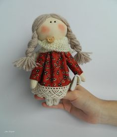 Bright rustic art by Marina Varivoda on Etsy Holiday Gifts, Holiday Decor, Rustic Art, Shopping Day, Little Doll, December, Miniatures, Textiles, Dolls