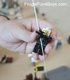 Make a Zip Line for Lego Minifigures (And a new Lego Fun Friday building challenge!) - Frugal Fun For Boys