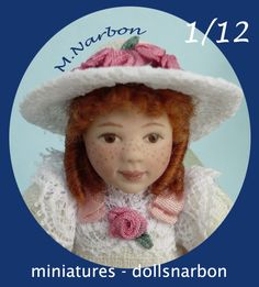 dollhouse Porcelain doll, scale 1/12, by M.Narbon
