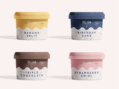 Gelato Packaging by Tabitha Stead selber machen ice cream cream cream cake cream design cream desserts cream recipes Event Branding, Pizza Branding, Bakery Branding, Business Branding, Branding Agency, Identity Branding, Advertising Agency, Business Cards, Ice Cream Packaging