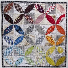 Displacement Activity: A mini finish of Orange Peel quilt! Scrappy Quilts, Mini Quilts, Baby Quilts, Crib Quilts, Patch Quilt, Applique Quilts, Quilt Blocks, Circle Quilts, Quilting Projects