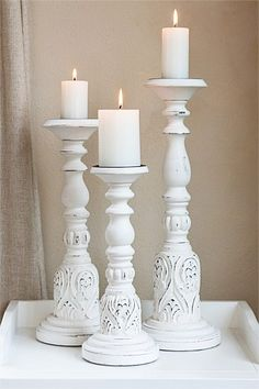 Buy Home Decor Online - Vases & Candlelight, Picture frames, Wall Art, Cushions, Throws, Window dressing, Decorative accents - Jadore Candle Stick (Set of 3) - EziBuy New Zealand