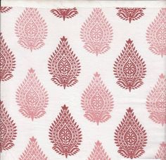 Organic Cotton, Pink Block Print, Herbal Dyed, Paisley Design, Indian Fabric, Natural Dyes, Cambric Cotton, Quilting Cotton, Marsala, Pink, by EcoFabricStore on Etsy https://www.etsy.com/listing/198596427/organic-cotton-pink-block-print-herbal