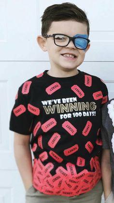 day of school shirt! We've been winning for 100 days!, day of faculty shirt! We've been profitable for 100 days! day of faculty shirt! We've been profitable for 100 days! day of facul. 100th Day Of School Crafts, 100 Day Of School Project, School Fun, First Day Of School, School Projects, School Days, School Stuff, Diy Projects, Diy Kids Shirts
