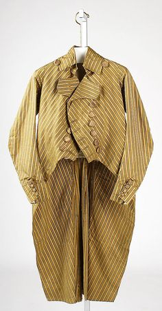 Coat Date: 1790–95 Culture: French (probably) Medium: silk Dimensions: Length at CB: 42 1/2 in. (108 cm) Credit Line: Purchase, Irene Lewiso...