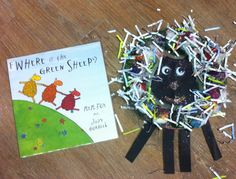 Where is the green sheep?  Mem Fox Storytime craft with the Magic Fairy Touch ..,glitter and rainbow colours