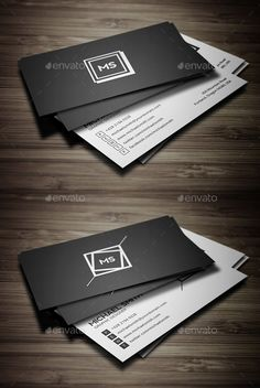 Business Cards  Bundle — Photoshop PSD #modern #black • Available here → https://graphicriver.net/item/business-cards-bundle/15962583?ref=pxcr