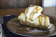 layered pumpkin pie cheesecake from @Rebecca Lindamood || Foodie with Family