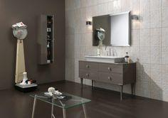 Sprinkle your Bathroom with the Warm Taupe Pantone Luxury Bathroom Vanities, Bathrooms, Modern Vintage Bathroom, Italian Bathroom, Art Deco Bathroom, Bathroom Styling, Architecture, Double Vanity, House Design