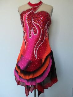 CUSTOMIZED ICE SKATING DRESS BATON TWIRLING COSTUME